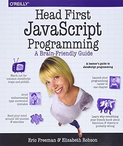 Head First JavaScript Programming: …