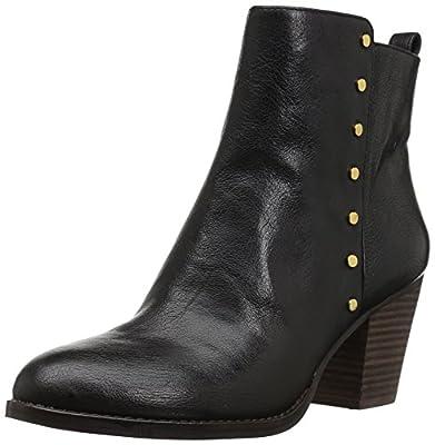 Nine West Women's Freeport Ankle Boot,Black Leather,10 Medium US