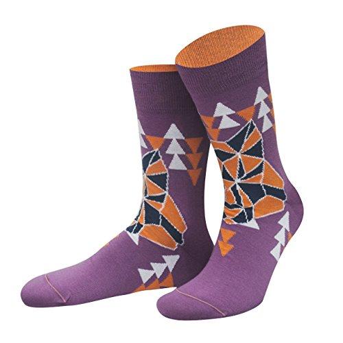 von Jungfeld - Herren Socken/Design Strumpf Baumwolle 1 Paar gemusterte Herrensocken 42-44 Xevious
