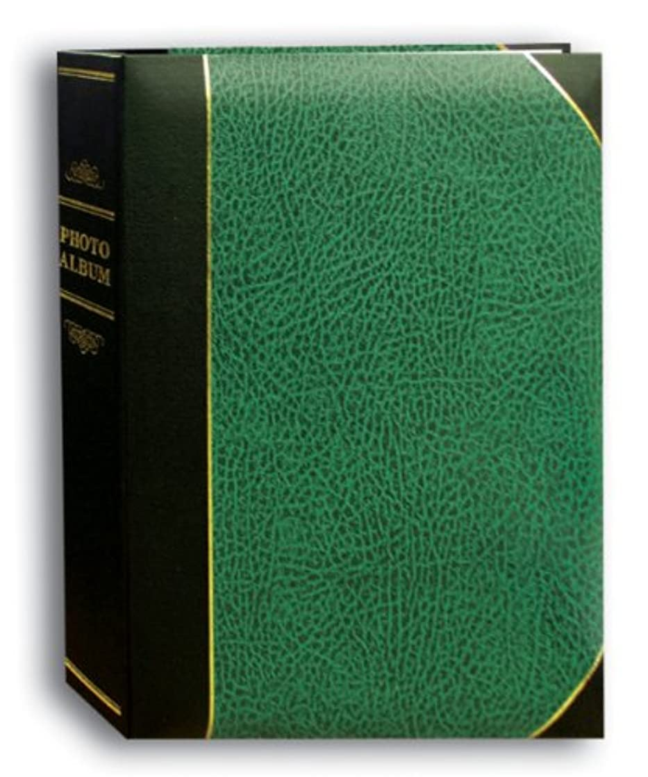 Pioneer Photo Albums 50-Pocket Hunter Green and Black Ledger Style Leatherette Cover Photo Album for 5 by 7-Inch Prints
