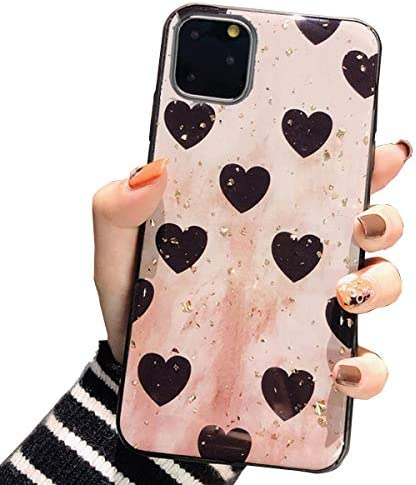 Topwin Epoxy Bling Case Compatible with iPhone 12 Pro Max 6 7 Bling Diamond Heart TPU Luxury product image