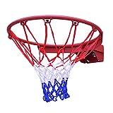Einfach zu montieren Basketballkorb Basketballanlage Innen Draussen An Der Wand Montiert Hängender Rückprall Mit Pumpennetz Und Schrauben Korbring Durchmesser 45cm 2 Farben Wahlweise Freigestellt Eins