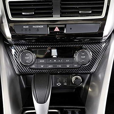 High Flying Für Eclipse Cross 2018 2021 Interieur Klimatisierung Dekor Kohlefaserfarbe 1 Stück Abs Kunststoff Auto