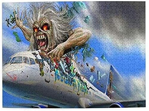 Rompecabezas De 1000 Piezas De Iron Maiden, Rompecabezas con Imágenes para Niños, Adolescentes, Adultos, Rompecabezas Divertido, Juego De Alivio del Estrés para Navidad, 50X75Cm