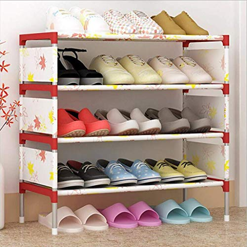 Estante de zapatos, Gabinete de zapatos a prueba de polvo El estante de zapatos más nuevo 5 niveles Organizador ajustable de metal a 15 pares de zapatos Gabinete de almacenamiento Estantes con repuest