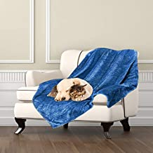 Msicyness Dog Blanket, Premium Fleece Fluffy Throw Blankets Soft and Warm Covers for Pets Dogs Cats(Large Blue)