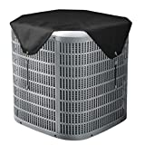 Qualward Air Conditioner Covers for Outside Units, AC Cover for Outdoor Central Unit Top Heavy Duty Water-Resistant Fits Up to 36 x 36 Inch, Black