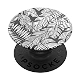 PopSockets PopGrip - Expanding Stand and Grip with Swappable Top - Mono Jungle
