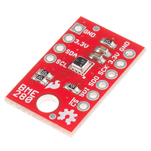 SparkFun Atmospheric Sensor Breakout - BME280 Measure Weather with Barometric pressure Relative Humidity Temperature Small Footprint I2C & SPI Communications Interface Operating Voltage 3.3V Low Power