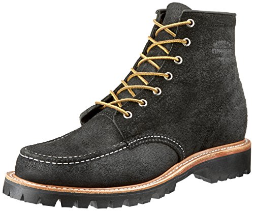 Justin Brands Chippewa 6inch Shipton Black Mountaineer Mocc Toe Boots - US 8 (E)