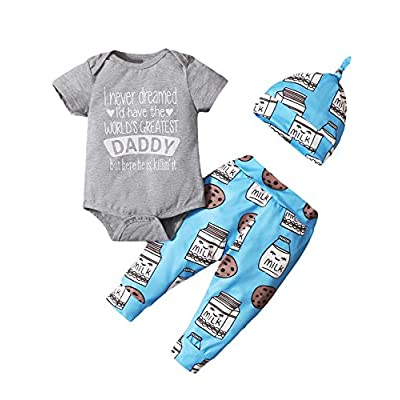 Dramiposs Newborn Boy Outfits Baby Boy Girl Coming Home Clothes Baby Cookies Monster Outfit