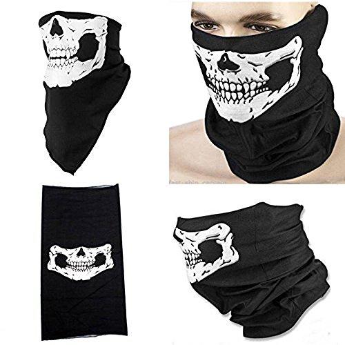 DP Design Bandana Tour de cou sous casque de tête de mort pour moto Airsoft Ski vélo GHOST Skull