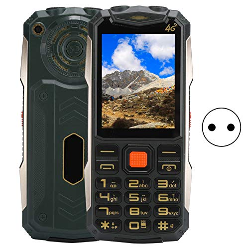 Cuifati Teléfono móvil portátil 100-240V K1 Full Netcom Phone Tarjeta Dual Teléfono móvil de Doble Modo de Espera Teléfono móvil Multifuncional(European regulations)
