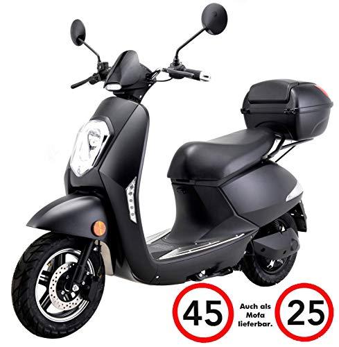 "Elektroroller ""Elettrico Li"", 1200 Watt, 60/120 km Reichweite, 45 km/h, E-Scooter, Elektro-Roller, E-Roller mit Straßenzulassung, herausnehmbarer Lithium-Akku, Elektro Scooter Produktvideo Schwarz"