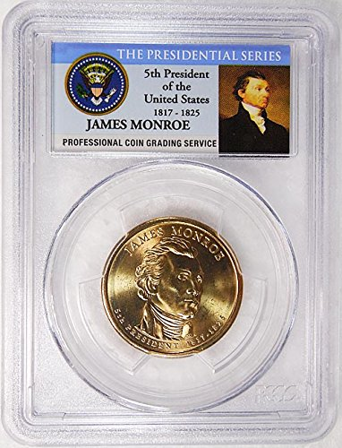 2008 P Pos. A James Monroe Presidential Dollar PCGS MS 66 FDI...