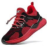 Zapatillas Casual Unisex Niños Zapatillas de Running para Niño Tenis Zapatos,75 Negro,35 EU
