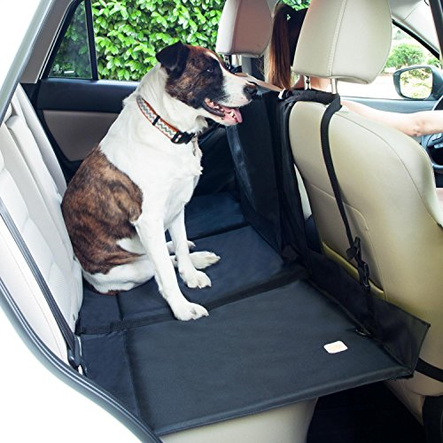 FrontPet Backseat Vehicle Pet Bridge - Dog Car Back-Seat Extender Platform, Seat Cover Divider Barrier, Ideal for Trucks, SUVs, and Full Sized Sedans (Fits 23in x 55in Backseat Area or Larger)