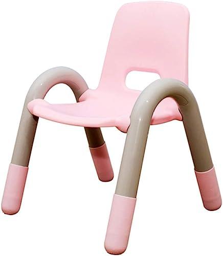 WFENG Table et chaises pour enfants Ensemble accoudoir Chaise en plastique à l'arrière Activité d'apprentissage Maternelle Stable Facile à nettoyer Rose   42x 41x 54cm