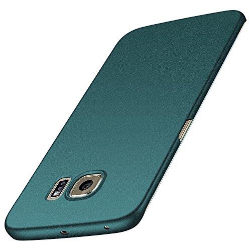 anccer Samsung Galaxy S6 Edge Hülle, [Serie Matte] Elastische Schockabsorption und Ultra Thin Design für Samsung Galaxy S6 Edge (Kies Grün)