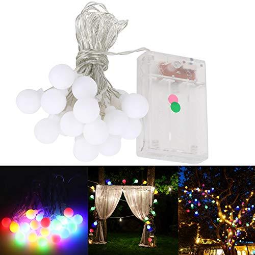 Hermosa pequeña bola blanca con luz decoración navideña navideña