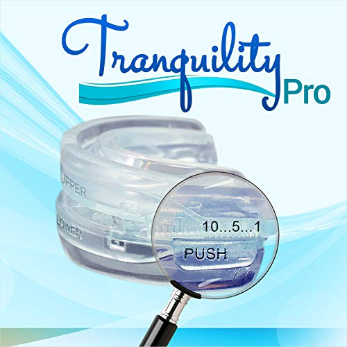 Tranquility Pro 2 Adjustable Bruxism Night Mouthpiece Sleep Mouthguard Mouth Guard Aid NOT Suitab...