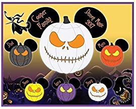 8 x 10 MAGNET SIGN Nightmare Halloween Jack Skellington Mouse Head Family Magnet for Disney Cruise - IMAGES ARE NOT MEANT TO BE CUT OUT