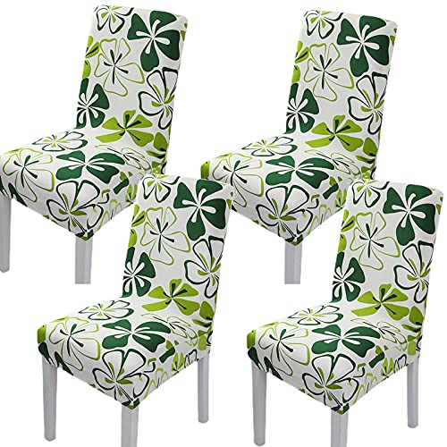 Teerfu, Fodera per sedia, 4 pezzi,protezione elasticizzata rimovibile, in spandex, fodera per sedie ultra aderente, ideale per hotel e cerimonie nuziali, lavabile Color 7