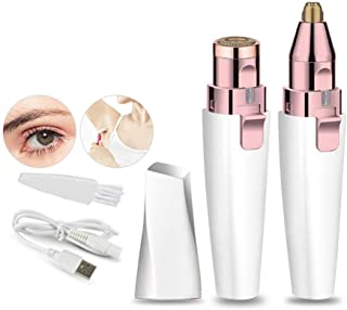 Epilator for Women USB Rechargeable Shaver Electric Eyebrow Trimmer Lady Eyebrow Trimmer Lipstick Shaving Device Hair Remo...