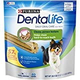 Purina DentaLife Made in USA Facilities Small/Medium Dog Dental Chews, Daily - 40 ct. Pouch