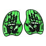 Arena Vortex Evolution Hand Paddle Accessorio da Allenamento, Acid Lime/Nero, M