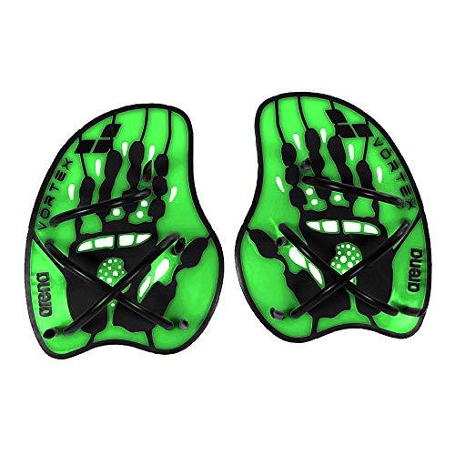 Arena Hand Paddles Vortex Accessorio da Allenamento, Verde (Acid Lime-Black), M
