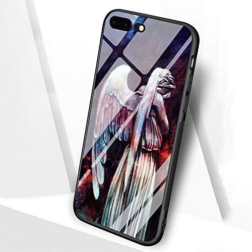 DTLI Schutzhülle aus gehärtetem Glas und TPU-Silikon-Gummi-Rahmen bieten Rundumschutz für Handys TT-92 Tardis Box Doctor Who, for iPhone 7/8, 8