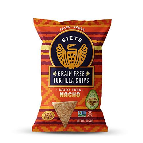 Siete Nacho Grain Free Tortilla Chips, 1 oz bags, 24-Pack