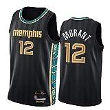JA Morant Basketball Jersey, Grizzlies 2021 New City Edition Chaleco de Moda para Hombre Camiseta cómoda Transpirable XL