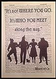 Parksmoonprints Der Zauberer von Oz Kunstdruck, Motiv: