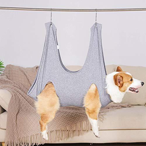 Pet hamaca para perros 2 en 1 toalla de baño para mascotas toalla seca bolsa calentadora para mascotas hamaca para perros y gatos con 2 ganchos para bañarse, lavarse, arreglarse y cortarse las uñas