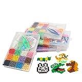 Phoenix Perline a Fusione, Mini Perline da Stirare 12 Colori 2 Pegboard Pinze e portachiavi per Il Tempo Libero Creativo, Set Gioco Creativo Fai da Te per Bambini