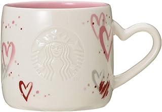 STARBUCKS スターバックス スタバ バレンタイン2019マグハート355ml ハート サイレン 女神 ロゴ 白 ホワイト ピンク エンボス 食器 ロゴセイレン 女神 コーヒー