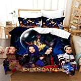 Descendants Bedding Set Full Size 3Pices Boys Girls Kids Movie Theme Duvet Cover Set