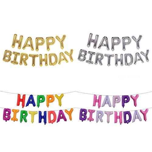 CAIZHAO Gelukkige Verjaardag Brieven Ballonnen, Gelukkige Verjaardag Banner, Gelukkige Verjaardag Decoraties Feestartikelen en Party Decoraties voor Kinderen, Mannen, Vrouwen Champagne