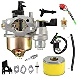 GX160 Carburetor+Ignition Coil Air Filter Kit for Honda GX120 GX140 GX160 GX168 GX200 5.5hp 6.5hp Small Engine Generator Lawn Mower Motor Replaces# 16100-ZH8-W61