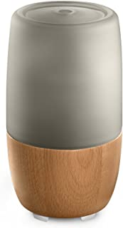 Ellia, Reflect Ulrasonic Essential Oil Aromatherapy Diffuser (Grey), Glass & Wood, 7hrs continuous & 14hrs intermittent runtime, 150mL Reservoir, Remote Controlled, Mood Light & Sounds, 3 Oil Samples