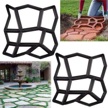 INTERHOME Molde Formar para Caminos Pavimentar Armar Patios Pavimentación Jardín Cemento - 2 Pcs