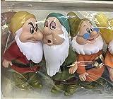 Figuras de dibujos animados 7 unids Blancanieves y los siete enanos figura de acción juguetes 15 cm princesa PVC muñecas colección juguetes para niños regalo de cumpleaños