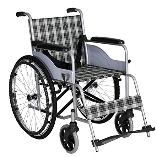 Lowest Prices! JINBAO The Wheelchair is Foldable and Comfortable to DriveThe Wheelchair with PU Armrests and Rotatable Pedals Provide Extra ComfortSuitable for The Elderly and The Disabled
