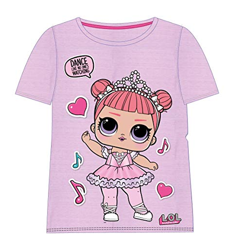 Cerdá Camiseta Manga Corta LOL, Rosa (Rosa C01), 5 años para Niñas