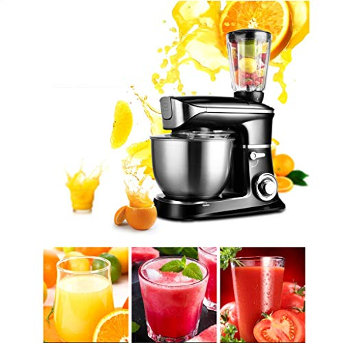 Batidora Amasadora Robot de Cocina Máquina de mezcladora de mezclador de cocina eléctrica Máquina de mezcladora de 6 velocidades con cuenco de mezcla de acero inoxidable 6,5L con ensamblaje de la taza