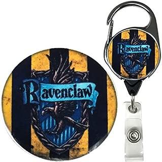 Harry Potter Hogwarts House Inspired Symbol Real Charming Premium Decorative ID Badge Holder (Ravenclaw Metal Carabiner)
