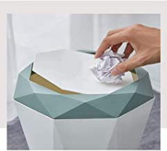 Fenteer Plastic Trash Can Recycling Bin Dustbin - Waste Paper Container with Lid - for Bedroom Bathroom Living Room Office...