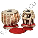S.A Trading Company Designer Copper Beeja Saal Wood Tabla Set for Professional Use